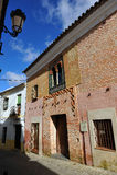Mullioned window house, Casa del Ajimez, Zafra, province of Badajoz, Extremadura, Spain Stock Photography