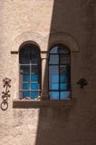 Mullioned window with two lights Stock Photography
