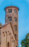 Mullioned windows of bell tower Royalty Free Stock Images
