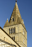 Mullions on bell tower of Romanesque Fieschi church , Lavagna, I Royalty Free Stock Photos