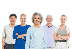 Mullti-ethnic senior group of people Stock Image