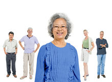 Mullti-ethnic senior group of people Stock Photos