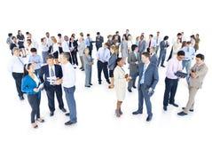 Mulltiethnic grupp av affärspersonen Arkivbild