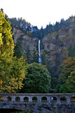 Mulnomah Falls in Oregon Stock Image