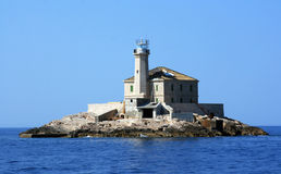 Mulo Lighthouse Island. The Mulo lighthouse on a small island in the Adriatic sea of Croatia Stock Photography