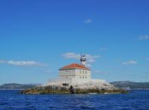Mulolighthouse della Croazia Fotografie Stock