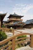 Mulong Lake Buildings, Guilin, China Royalty Free Stock Photography