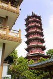 Mulong Lake Pagoda and Buildings, Guilin, China Stock Images