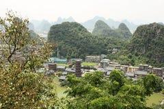 Mulongpagode - het oriëntatiepunt van Guilin-Stad Stock Fotografie
