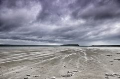 Mulranny海滩,梅奥郡 库存照片