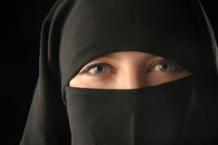 Mulsim woman wearing veil Royalty Free Stock Photos