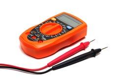 Multímetro anaranjado imagen de archivo