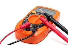 Multímetro anaranjado foto de archivo libre de regalías