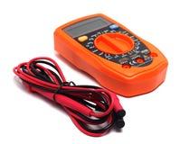 Multímetro anaranjado imagen de archivo libre de regalías