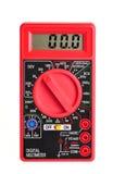 Multímetro elétrico com indicação digital no branco Imagem de Stock Royalty Free