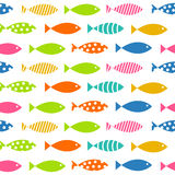Mult Fish Seamless Pattern Background Vector. Illustration EPS0 Royalty Free Stock Photos