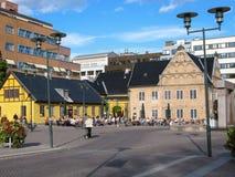 Multa Art Gallery de Oslo Kunstforening na rua de Radhusgata, Oslo, Imagens de Stock Royalty Free