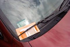 Multa de aparcamiento Fotos de archivo libres de regalías