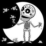Multa del esqueleto Im ilustración del vector