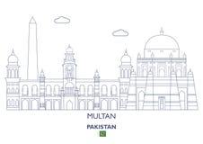 Multan City Skyline, Pakistan Royalty Free Stock Photos
