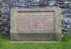 Multangular Tower Plaque in York Stock Photo