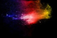 Multi взрыв порошка цвета на черной предпосылке Стоковое Изображение RF