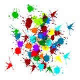 Multi выплеск брызга цвета на белой предпосылке вектор Иллюстрация вектора