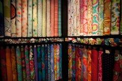 Multi покрашенная ткань для шить, шить и выстегивать стоковая фотография rf