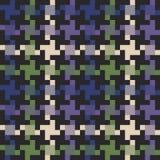 Multi покрашенная ткань houndstooth Стоковое Изображение