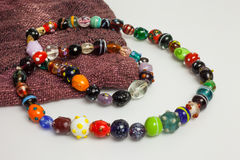 Multi покрашенное ожерелье Стоковое фото RF