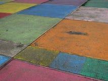 Multi покрашенное поле на тротуаре Стоковые Фотографии RF