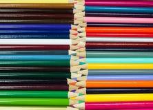Multi покрашенные карандаши искусства Стоковое Изображение RF