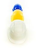 Multi покрашенные шлемы Стоковое Фото
