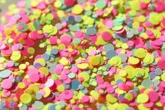 Multi покрашенные Sequins для дизайна ногтей glitter Фольга для обслуживания ногтя Сверкная shimmer красоты, яркий блеск яркое стоковая фотография