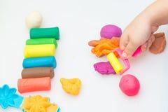 Multi тесто и инструмент цвета Стоковое Изображение RF