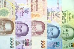 Multi цвет тайского заказа банкноты значением банкноты для предпосылки Стоковые Изображения RF