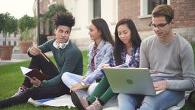 Multi этнический studentship американского коллежа сток-видео
