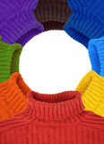 покрасьте свитеры multi радуги рамки круглые Стоковое Фото