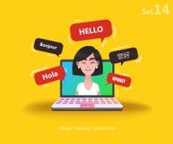 Онлайн multi переводчик языка иллюстрация штока