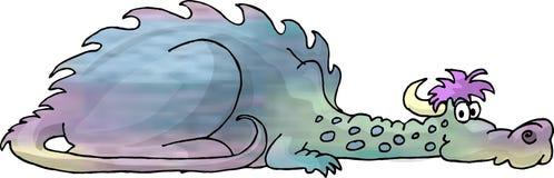 покрашенный дракон multi Стоковое Изображение RF