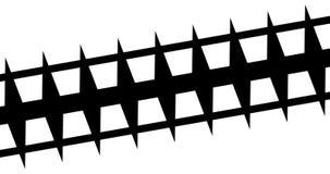 Multi abstracte de strepen zwart-witte overgang van de borstelslag met verschillende vormachtergrond, digitale animatie van verf royalty-vrije illustratie