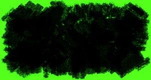 Multi abstracte de strepen zwart-witte overgang van de borstelslag met verschillende vormachtergrond, digitale animatie van verf stock illustratie