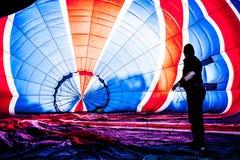 Multi balão de ar quente colorido foto de stock royalty free
