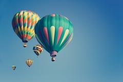 Multi balões de ar quente coloridos Imagem de Stock