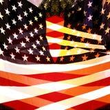 Multi bandiera degli Stati Uniti di esposizione Fotografia Stock