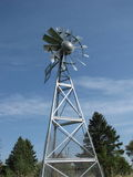 Multi-bladed steel windmill Stock Photo
