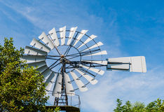 Multi-bladed wind pump from close Royalty Free Stock Photography