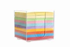 Multi blocchetto di colore delle note di Post-it Fotografia Stock