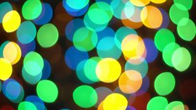 Multi bokeh Defocused das reflexões da luz da cor 4K video estoque