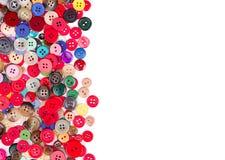 Multi botões coloridos no branco Imagem de Stock Royalty Free